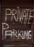 Parcheggio privato Fotografie Stock