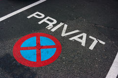 Parcheggio privato Fotografia Stock Libera da Diritti