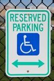 Parcheggio riservato Immagine Stock Libera da Diritti