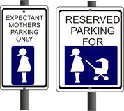 Parcheggio riservato Fotografie Stock Libere da Diritti