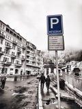 Parcheggio riservato Fotografia Stock Libera da Diritti