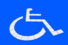 Parcheggio riservato per andicappato Immagini Stock Libere da Diritti