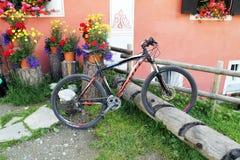 Parcheggio svizzero della bici Immagine Stock