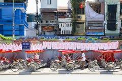 Parcheggio vietnamita del risciò fotografie stock libere da diritti