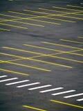 Parcheggio vuoto di Grunge Fotografia Stock Libera da Diritti