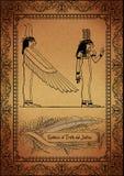 Parchemin-Égyptien Images libres de droits