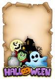 Parchemin avec le thème 3 de Veille de la toussaint illustration stock