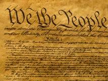 Parchemin de constitution des Etats-Unis Photos stock