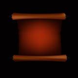 Parchemin de cru sur le fond noir Image stock