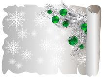 Parchemin de Noël Photos stock