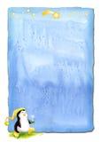 Parchemin de Noël de pingouin Image stock