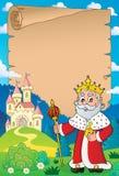Parchemin 4 de sujet de roi illustration stock