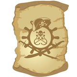 Parchemin et la barre d'un ship-1 de navigation Photos stock