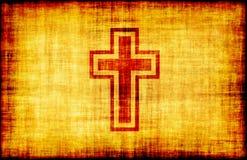parchemin saint gravé par croix illustration stock