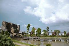 Parchi con bello paesaggio Fotografie Stock