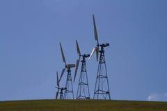 Parchi eolici in California del Nord Fotografia Stock Libera da Diritti