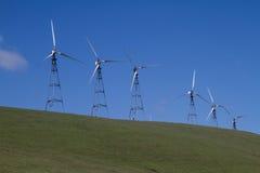 Parchi eolici in California del Nord Immagini Stock Libere da Diritti