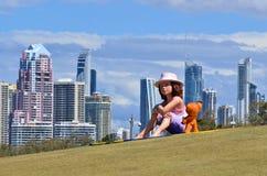 Parchi la Gold Coast Queensland Australia di Southport Broadwater Fotografie Stock Libere da Diritti