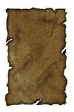 Parchment. An illustration of an aged parchment on white background Stock Photos