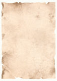 Parchment. Old parchment on a white background Stock Images