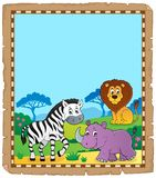 Parchment with African animals 6 royalty free illustration