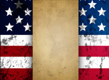 Parchment against the backdrop of the American flag Royalty Free Stock Photography