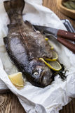 Parchment baked rainbow trout Royalty Free Stock Image