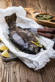 Parchment baked rainbow trout Stock Photography