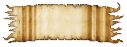 Parchment Banner. Illustration of an old parchment banner Stock Photography