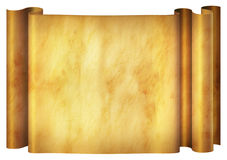 Parchment Banner. Illustration of an old parchment banner Stock Photo