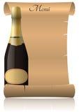 Parchment champagne Stock Photos