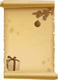 Parchment for Christmas Royalty Free Stock Photo