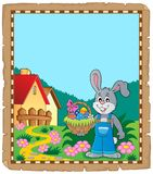Parchment with Easter bunny topic 9 Stock Image