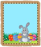 Parchment with Easter bunny topic 4 Stock Photography