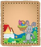 Parchment with Easter bunny topic 1 Stock Images