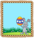 Parchment with Easter bunny topic 3 Stock Photo