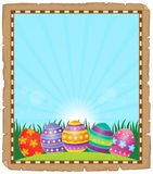 Parchment with Easter eggs 1. Eps10 vector illustration Stock Photos