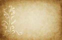 Parchment with floral design Royalty Free Stock Photo
