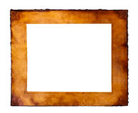 Parchment frame. Cot out in white Royalty Free Stock Images