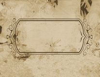 Parchment of frame Royalty Free Stock Photography