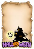 Parchment with Halloween theme 2 Stock Photo