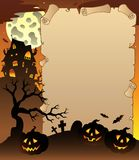 Parchment with Halloween topic 1. Illustration Royalty Free Stock Image