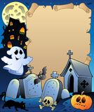 Parchment with Halloween topic 2. Illustration Stock Image