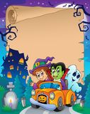 Parchment with Halloween topic 7 Royalty Free Stock Photos
