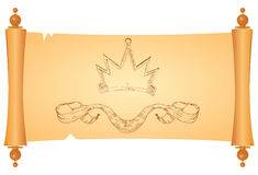 Parchment with heraldic symbols Royalty Free Stock Image