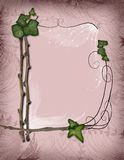 parchment - ivy and branch frame Stock Photo