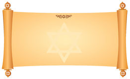 Parchment with Jewish symbols Royalty Free Stock Image