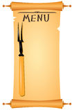 Parchment menu Royalty Free Stock Photography