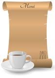 Parchment menu Stock Image