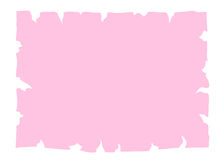 Parchment old paper banner pink Stock Image